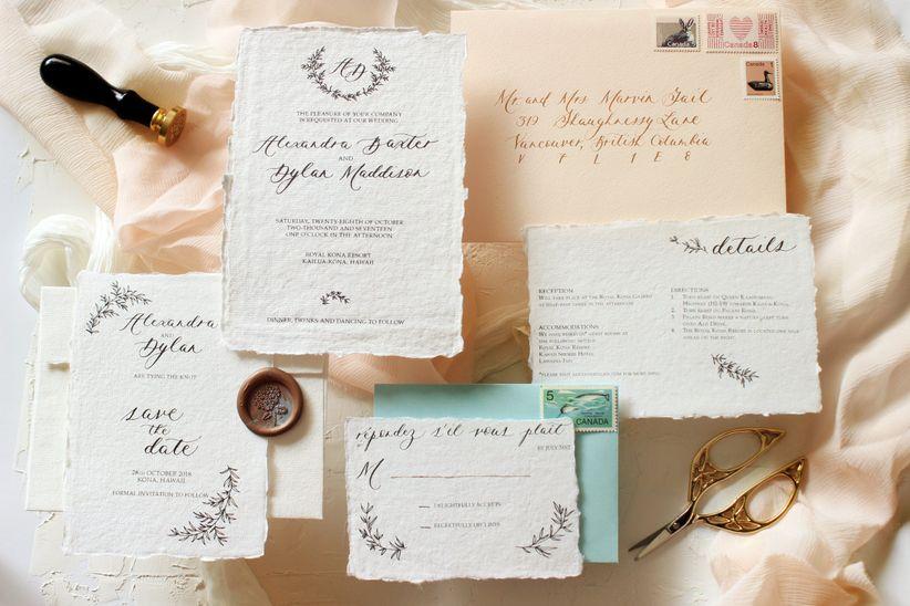 Vintagewedding invitation