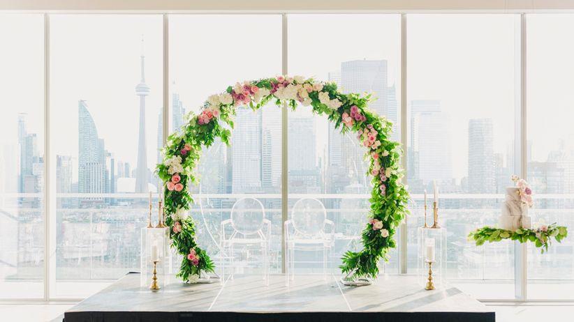Glass window wedding venue