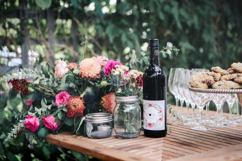 Mongrammed wedding favours