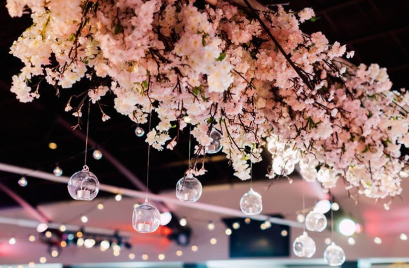 Cherry blossom wedding decor