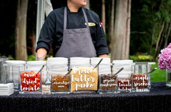 8 Wedding Reception Food Station Ideas