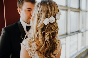 9 Stunning Wedding Hairstyles with Flowers