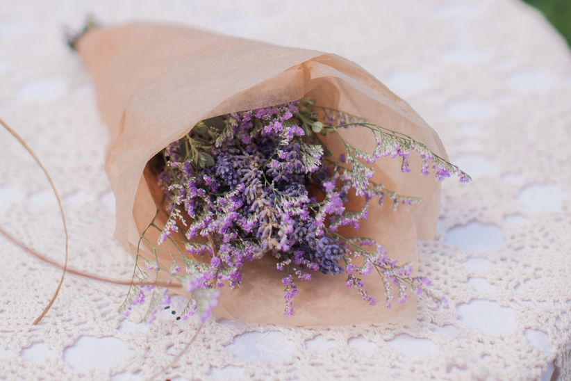 Lavender Bridal Bouquet - Herbs to Add to Your Wedding Bouquet