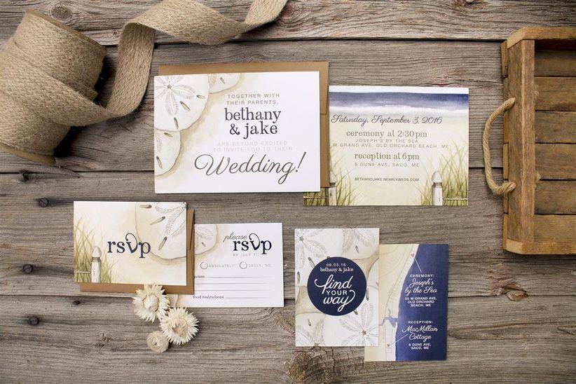 Beachwedding invitation