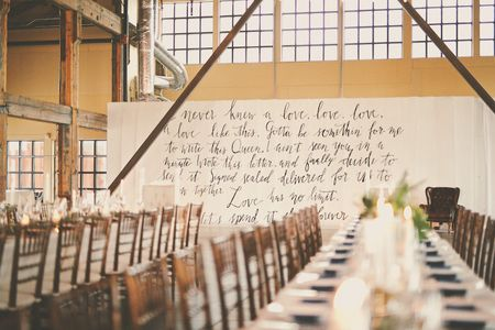 18 Ways to Use Calligraphy in Your Wedding Decor