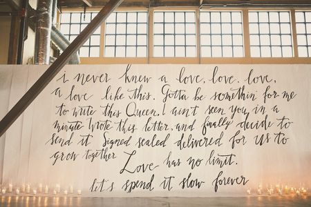 5 Creative Ways to Use Love Song Lyrics in Your Wedding Decor