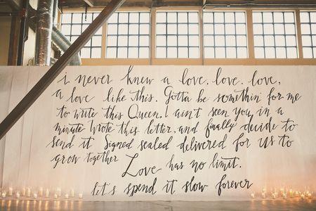 5 Ways to Use Lyrics in Your Wedding Decor