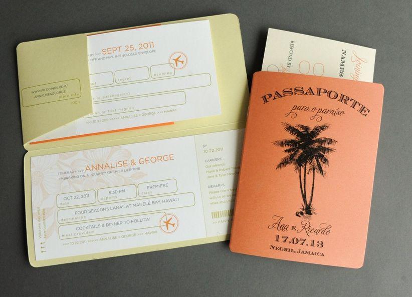 Travel-themewedding invitation