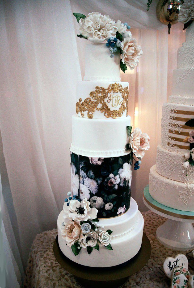 Image transfer wedding cake