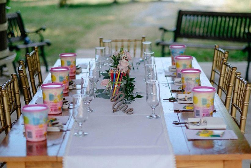 Kid's table at wedding