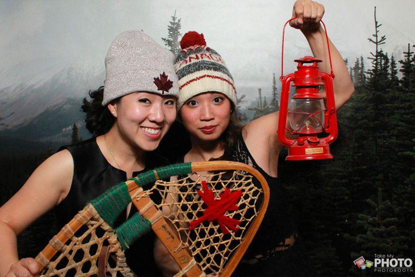 Canadian-themed photobooth