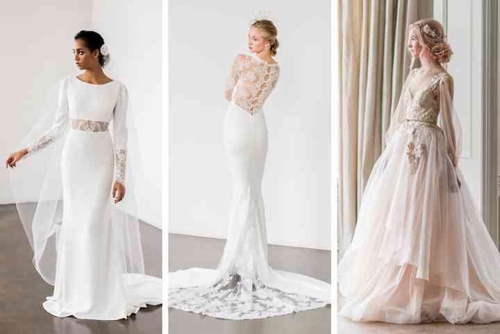 Essential Canadian Wedding Dress Designers,Black Dress For Winter Wedding