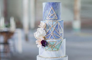 7 Geometric Wedding Cake Ideas We're Totally Obsessed With
