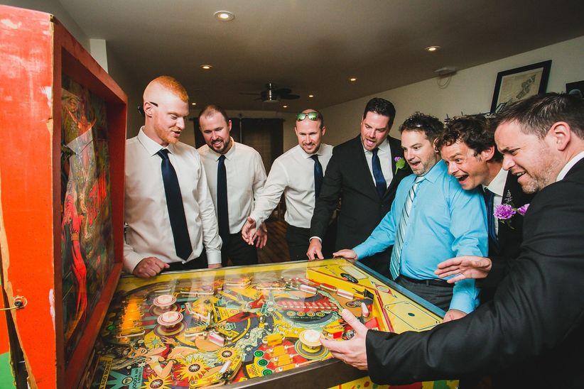 Arcade games at a wedding