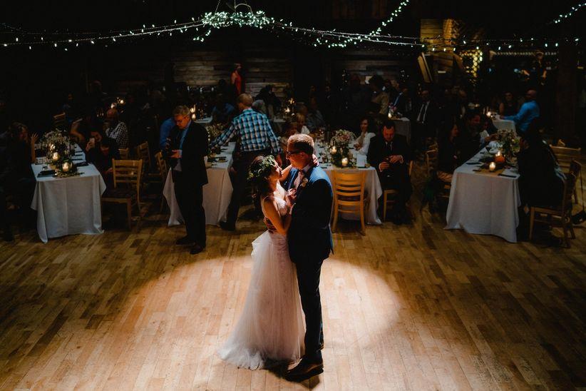 Rustic wedding first dance