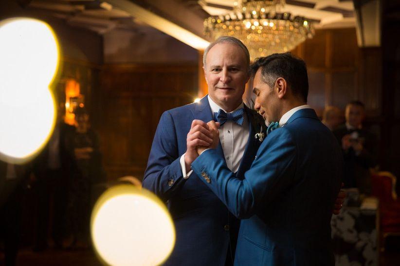 Same sex couple wedding first dance