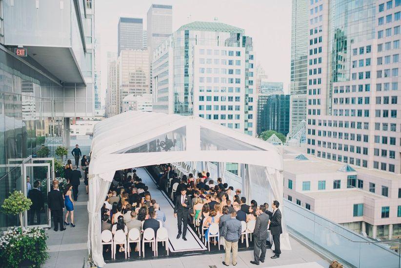 Malaparte outdoor wedding ceremony