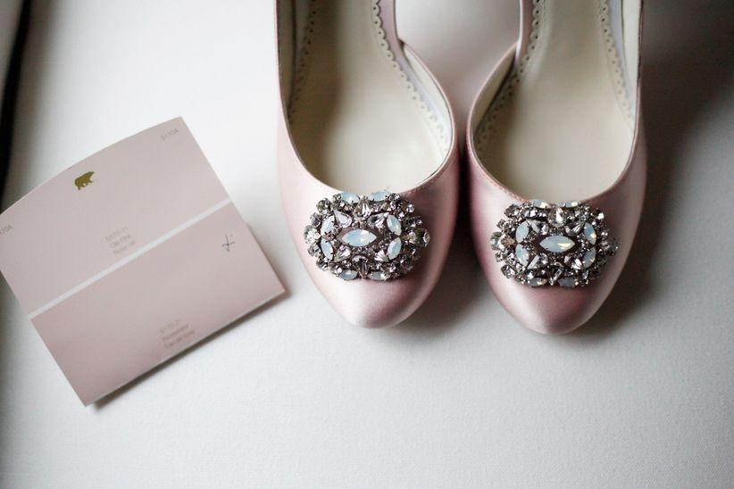 Wedding shoe clip