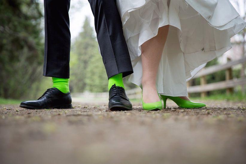 Green wedding fashion accessories