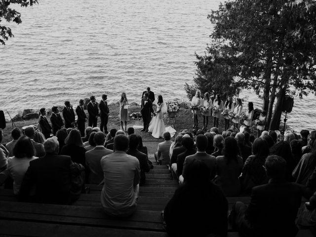 Tyrone and Danielle's wedding in Huntsville, Ontario 42