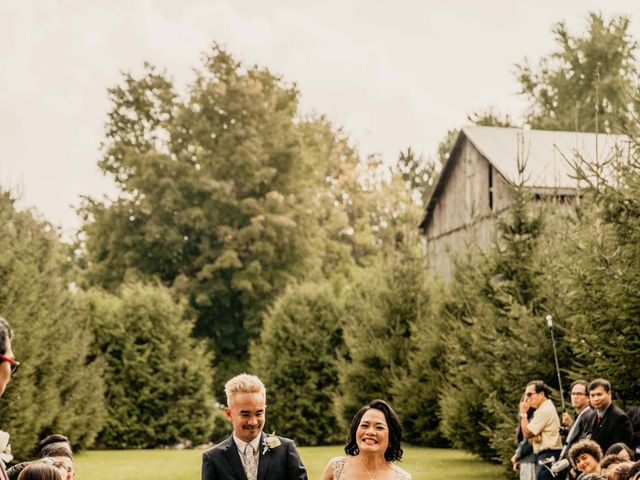 Phrynyll and Chester's wedding in Mono, Ontario 56