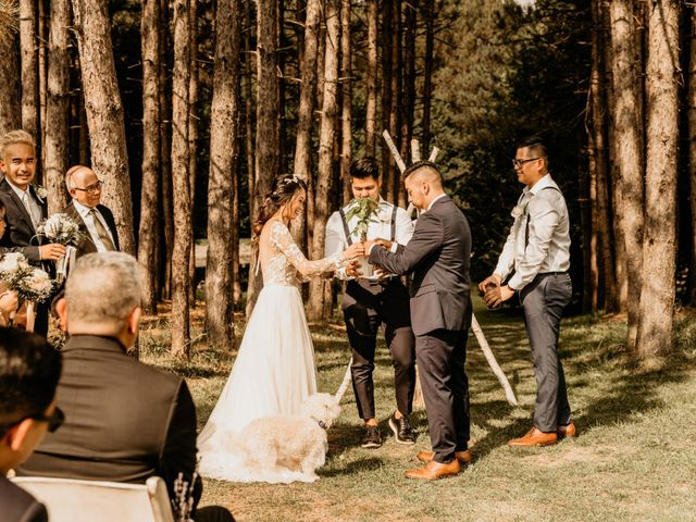 Phrynyll and Chester's wedding in Mono, Ontario 65