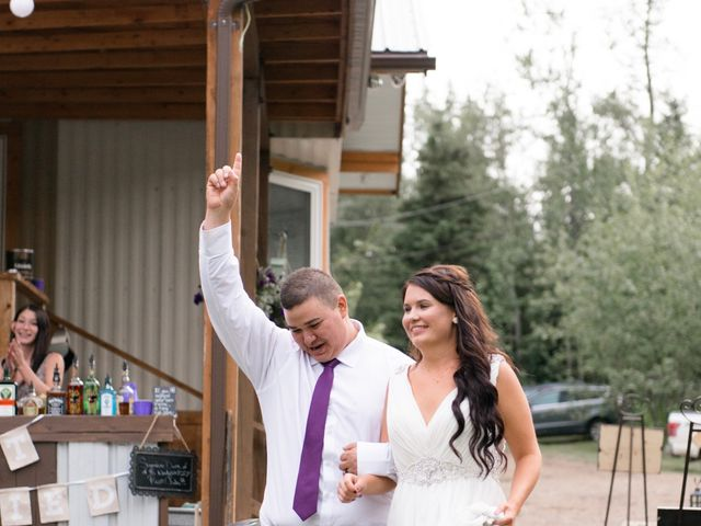 Dusty and Isa's wedding in Fort St John, British Columbia 42