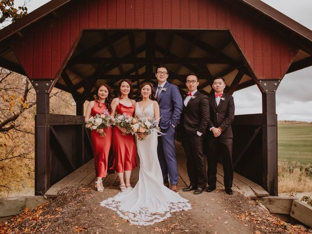Dinghua and Yixiu's wedding in Starbuck, Manitoba 20
