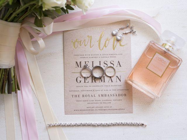 German and Melissa's wedding in Caledon, Ontario 11