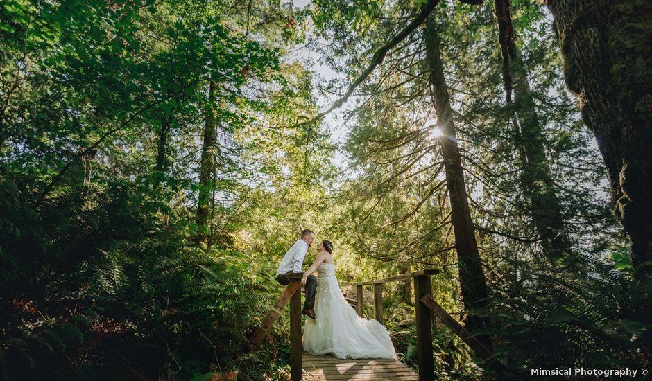 Matt and Yianna's wedding in Belcarra, British Columbia