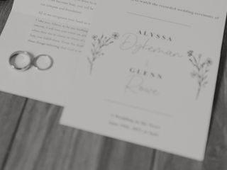 The wedding of Alyssa and Glenn 1