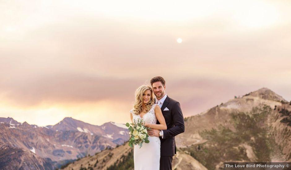 Nick and Shantel's wedding in Golden, British Columbia