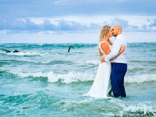 The wedding of Tia and David
