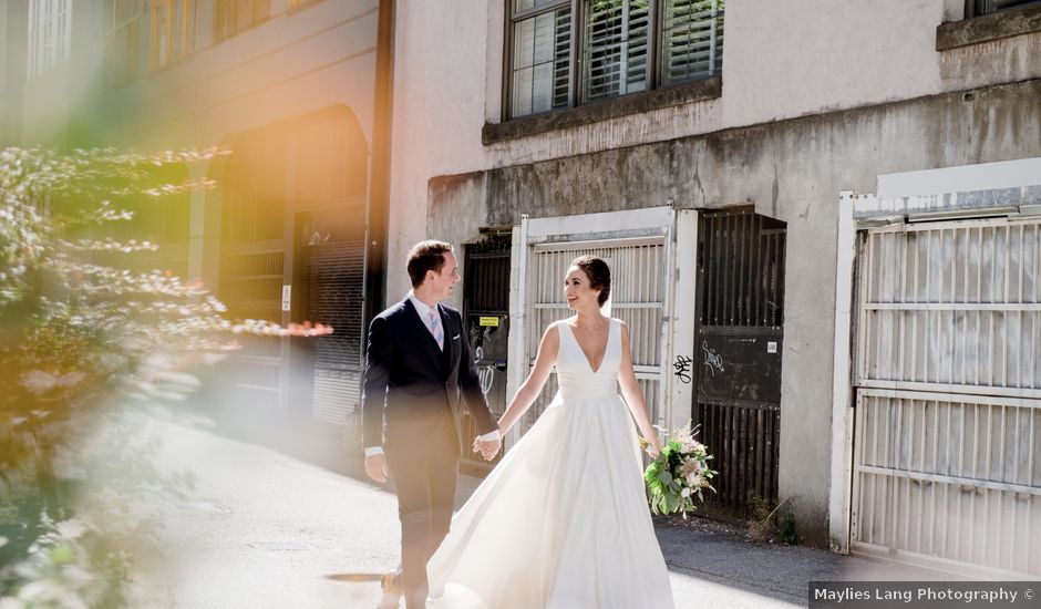 Alex and Rebecca's wedding in Vancouver, British Columbia