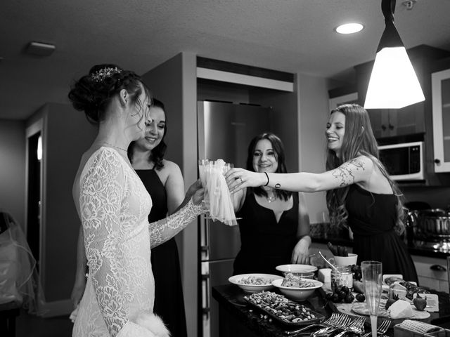 Trent and Kyrstin's wedding in Canmore, Alberta 12