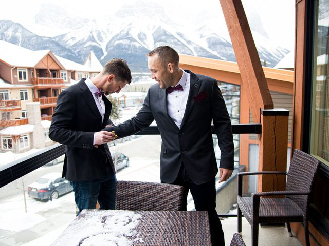 Trent and Kyrstin's wedding in Canmore, Alberta 19