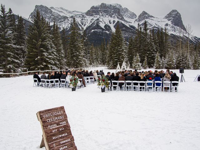 Trent and Kyrstin's wedding in Canmore, Alberta 26