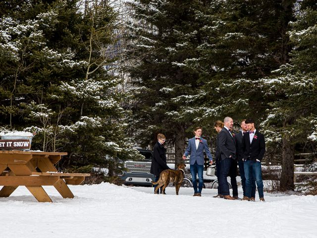 Trent and Kyrstin's wedding in Canmore, Alberta 27
