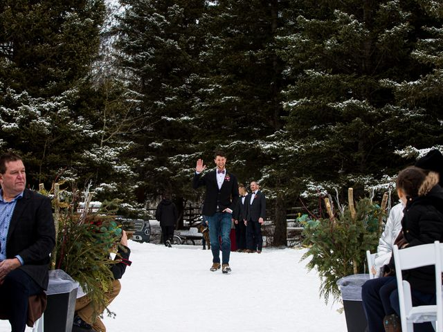 Trent and Kyrstin's wedding in Canmore, Alberta 29