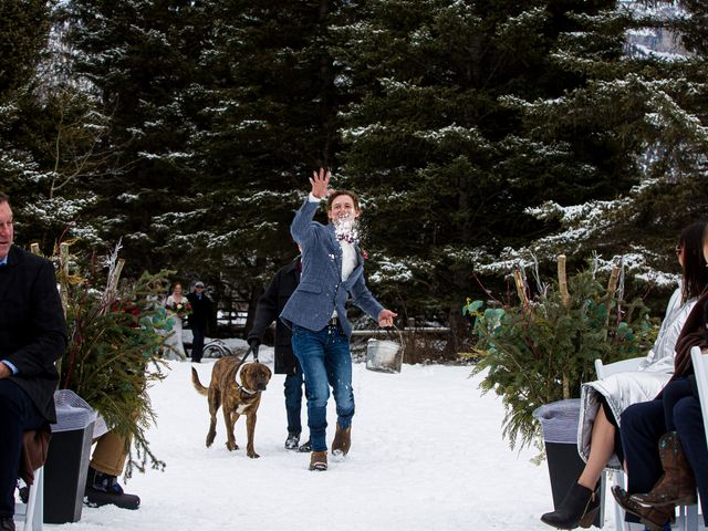 Trent and Kyrstin's wedding in Canmore, Alberta 32