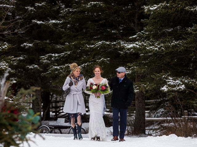 Trent and Kyrstin's wedding in Canmore, Alberta 33