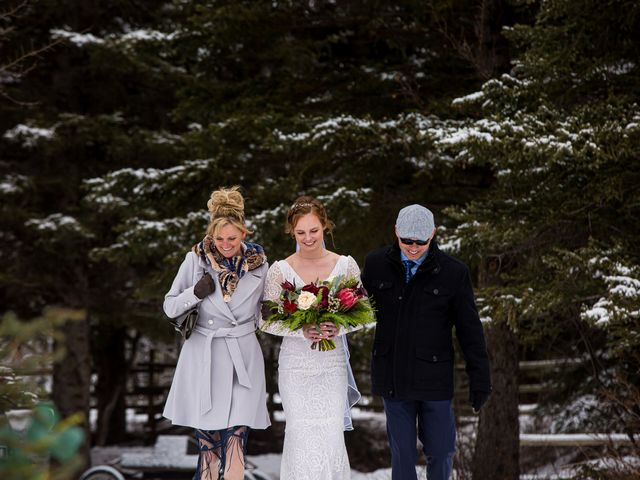 Trent and Kyrstin's wedding in Canmore, Alberta 34