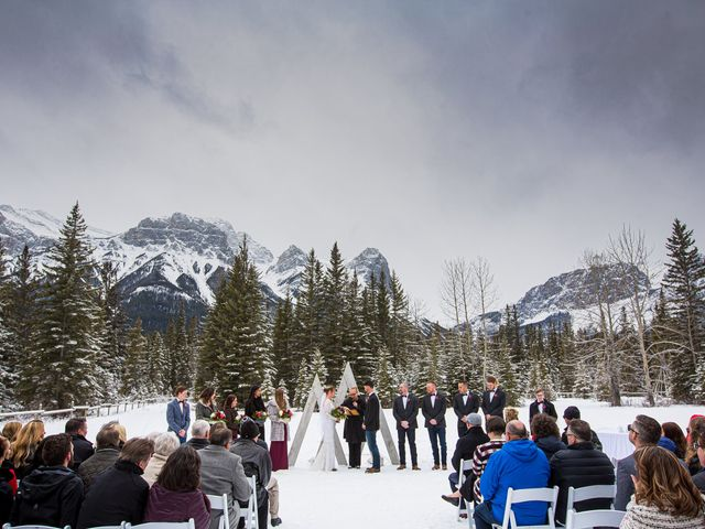 Trent and Kyrstin's wedding in Canmore, Alberta 36