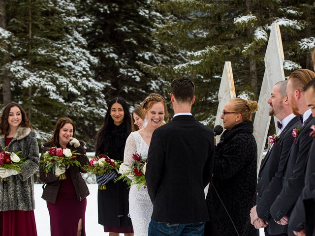 Trent and Kyrstin's wedding in Canmore, Alberta 37