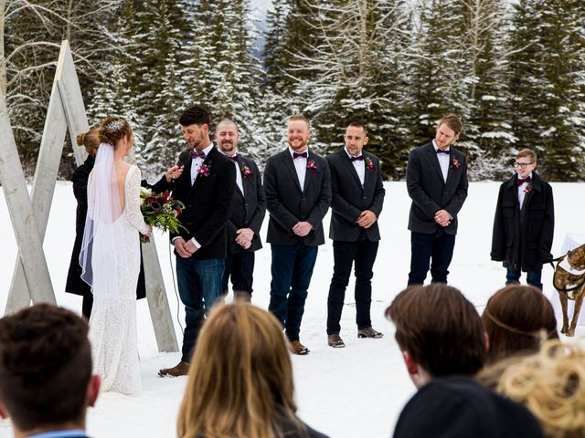 Trent and Kyrstin's wedding in Canmore, Alberta 38