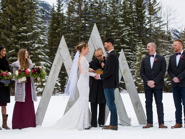 Trent and Kyrstin's wedding in Canmore, Alberta 39