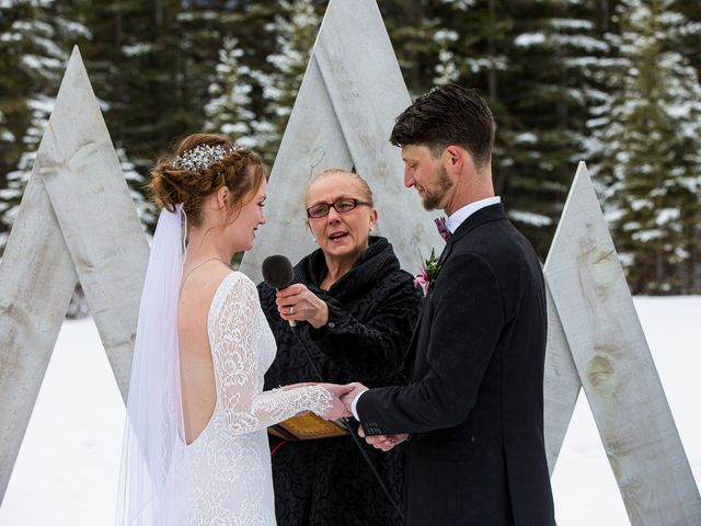 Trent and Kyrstin's wedding in Canmore, Alberta 40