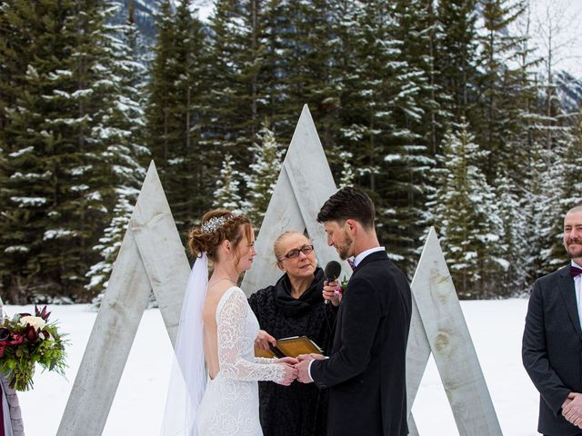 Trent and Kyrstin's wedding in Canmore, Alberta 41