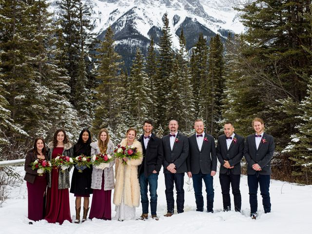 Trent and Kyrstin's wedding in Canmore, Alberta 43