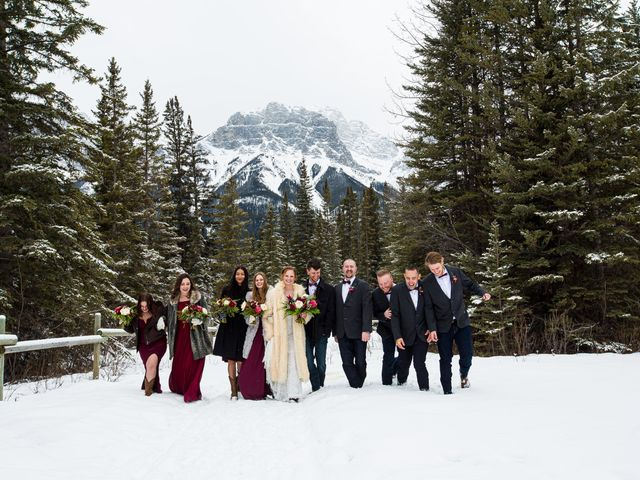 Trent and Kyrstin's wedding in Canmore, Alberta 46